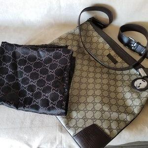 Authentic Gucci Monogram Messenger Bag